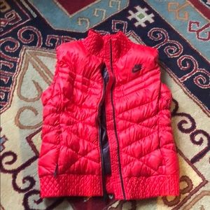 Bright red vest